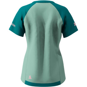 Zimtstern PureFlowz SS Shirt Women granite green/pacific green/ blush